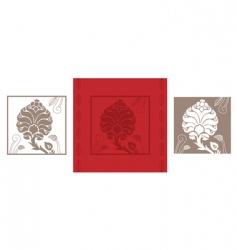 card flower vector image