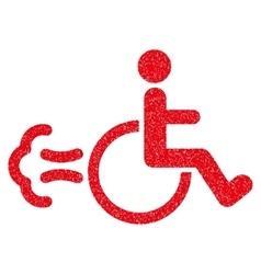 Patient movement grainy texture icon vector