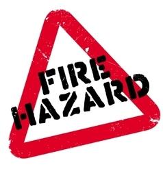 Fire Hazard rubber stamp vector image