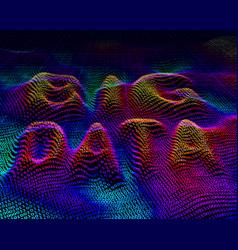 Big data binary code background vector