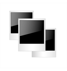 Polaroid photo frames isolated on white background vector image