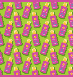 Summer seamless pattern with sunscreen vector