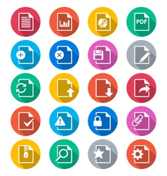 Document flat color icons vector