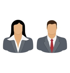 Business person user icon vector