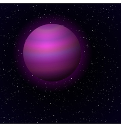Cartoon jupiter in open space vector