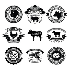BBQ labels vector image