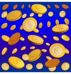 golden rain vector image