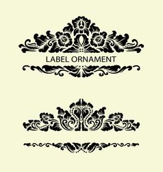 Label ornaments 1 vector image