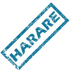 Harare rubber stamp vector