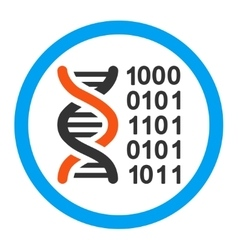 Genetic code rounded icon vector