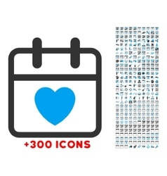Love day icon vector
