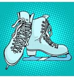 Skates winter sports vector image