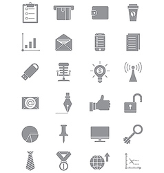 Set of gray business icons vector image
