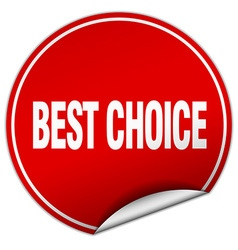 Best choice round red sticker isolated on white vector
