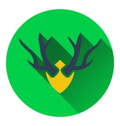 Icon of deers antlers vector