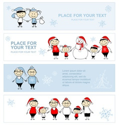 Happy family together christmas holiday banner vector