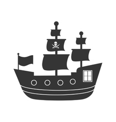 Pirate boat isolated icon graphic design vector