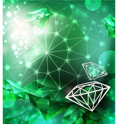 Background with texture gemstone vector image vector image
