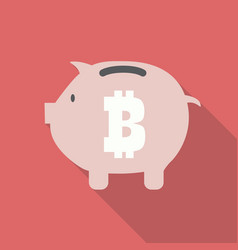 Bitcoin piggy bank vector