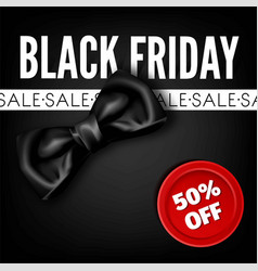 black friday sale discount fashion promo red bow vector image