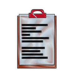 clipboard document file office object equipment vector image vector image