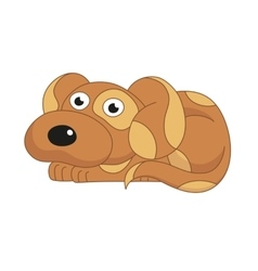 cute dog surprising vector image vector image