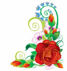 floral rose border vector image vector image