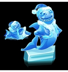 Funny shark figure made of ice vector image vector image