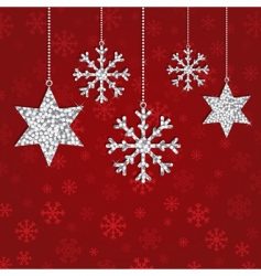 glitter decorations vector image vector image