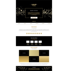 Golden minimalistic landing page vector image vector image