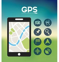 gps location vector image