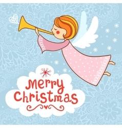 Greeting card Christmas card vector image