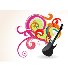 Guitar design vector image