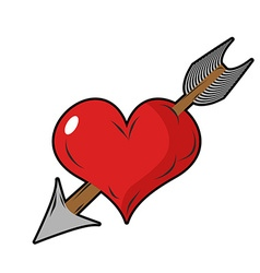 Heart and arrow Symbol of love Design element for vector image