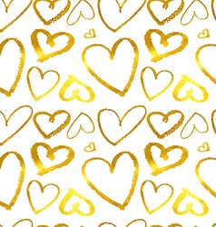 Hearts Seamless abstract pattern vector image vector image