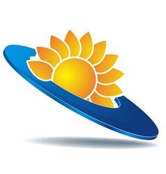 logo sun disc vector image vector image