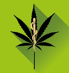 Medical marihuana new logo vector image