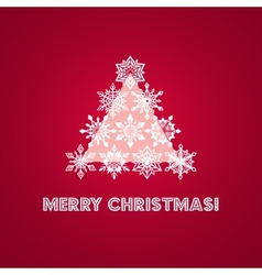 Merry Christmas Greeting Card with Words and vector image