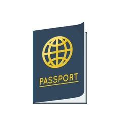 Passport ID document vector image vector image