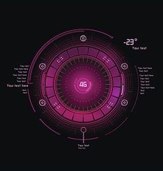 Pink hud vector image vector image