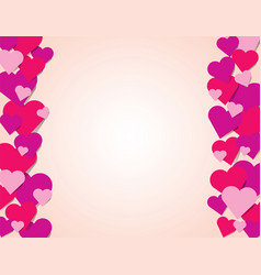 pink red and purple hearts border background vector image