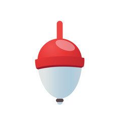 Red fishing bobber vector