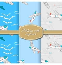 Setairplanepattern vector