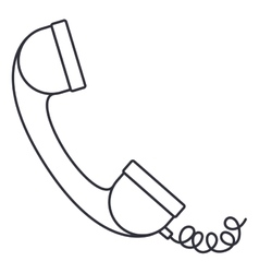 Telephone phone isolated icon vector