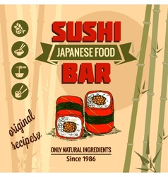 template of sushi menu vector image vector image