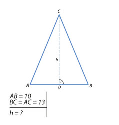 the task of finding the hypotenuse and the second vector image