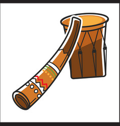 Traditional australian music instruments vector