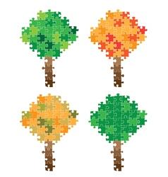tree puzzle vector image vector image