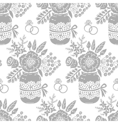 Vintage seamless pattern with a bouquet of flowers vector