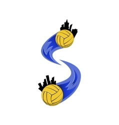 Water polo logo for the team and the cup vector image vector image